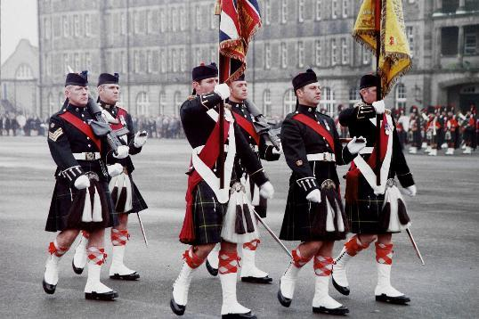The New Colours of The Highlanders (Seaforth, Gordons and Camerons)