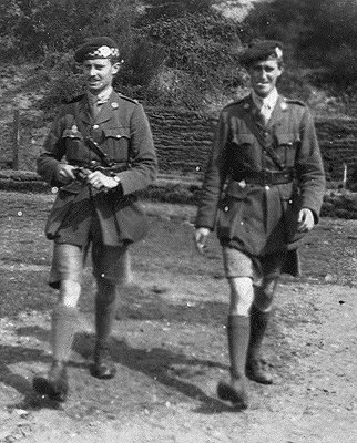 Gordon Llewellyn Griffiths (1888 - 1943). Lovat Scouts. Pictured Right with unidentified colleague.