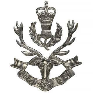 Click Regimental Cap Badge to Enter