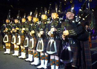 The Highlanders' pipers